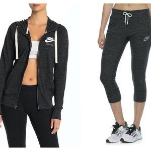 Nike Zip Jacket & Capri Joggers Set